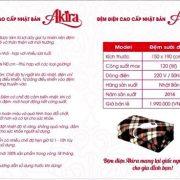 mua bán Đệm điện Nhật Bản thương hiệu Akira cao cấp