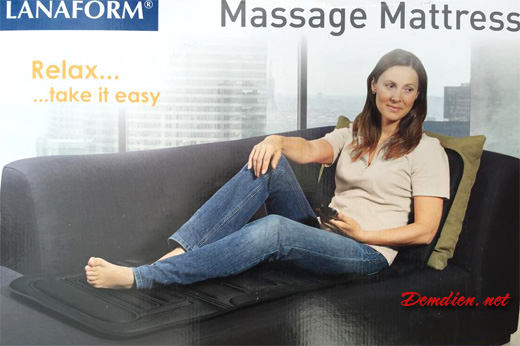 đệm điện massage toàn thân thương hiệu Lanaform Bỉ