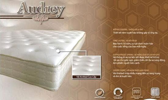 Đệm lò xo Dunlopillo Audrey khuyến mại lớn