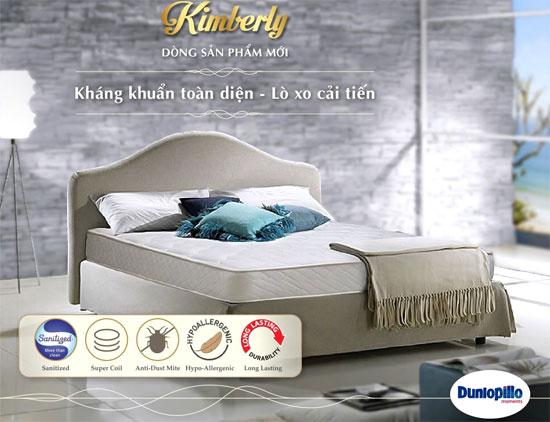 dòng đệm lò xo Kimberly Dunlopillo chính hãng