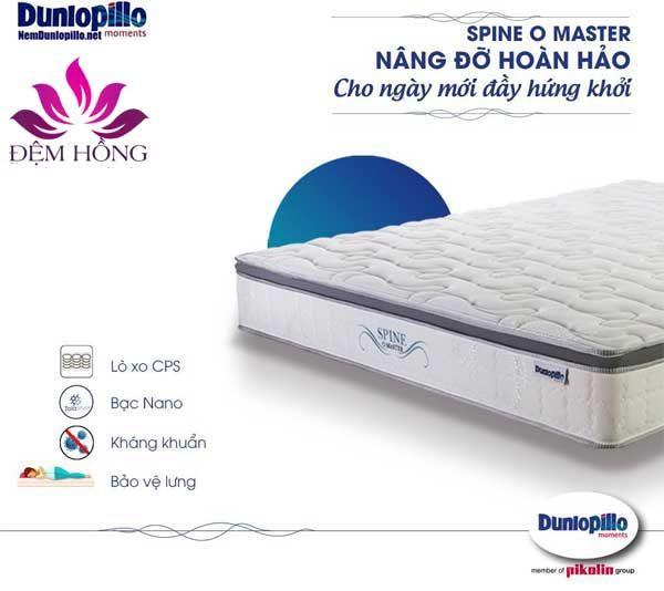 Mẫu đệm lò xo Spine O master Dunlopillo cao cấp chính hãng