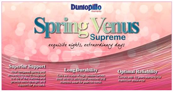 Bảng giá khuyến mại nệm đệm lò xo Dunlopillo Venus Supreme tại Hà Nội và các tỉnh miền Bắc