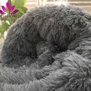Chăn lông cừu Tây Tạng cao cấp màu ghi đen
