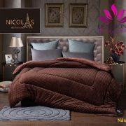 Nơi bán chăn lông cừu Nicolas màu nâu socola