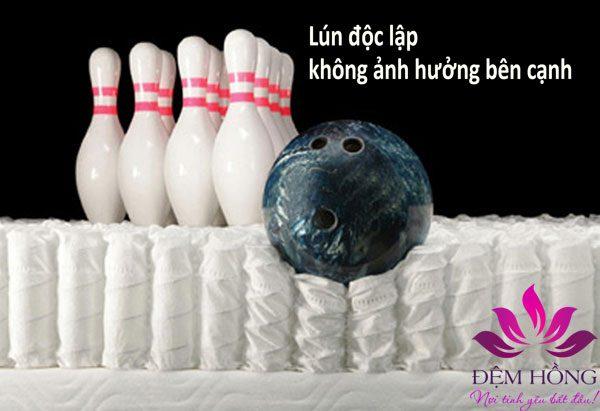 Đệm D'Louis với hệ thống lò xo túi cao cấp, sử dụng thép cabon Malaisia