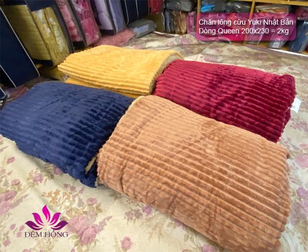4 mầu chăn queen Yuki chính hãng