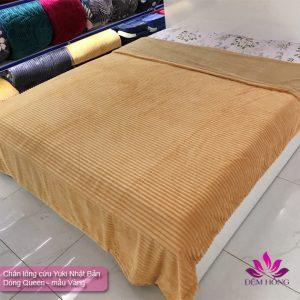 Mẫu chăn lông cừu mầu Vàng hiệu Yuki Queen