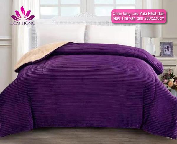Chăn Yuki chất lượng cao - màu tím
