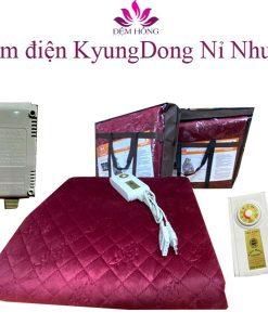 Mẫu đệm điện đôi Hàn Quốc Kyungdong nỉ nhung