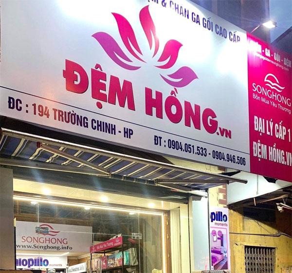 Đệm Hồng - địa chỉ bán chăn ga gối đệm tại Hải Phòng